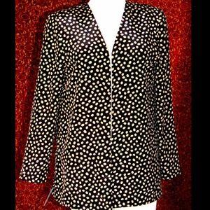 HABERDASHERY VINTAGE black coffee bean jacket S